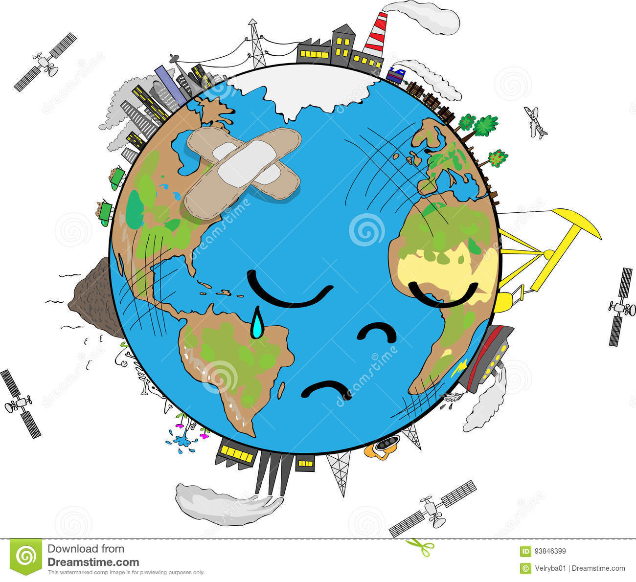 sad-planet-earth-crying-face-environmental-pollution-hand-drawn-cartoon-illustration-93846399